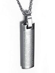 Pánské Náhrdelníky s přívěšky Přívěšky Titanová ocel Cross Shape Zlatá Černá Stříbrná Modrá Šperky Denní Ležérní 1ks