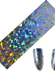 1ks 100 * 4 cm nail art přenosu třpytky samolepky kutilství geometrický magická barva vlna peří obraz nail art designu cs9-12