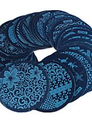 Nail Art image nabijača serija om 30pcs miks dizajna DIY lak za nokte