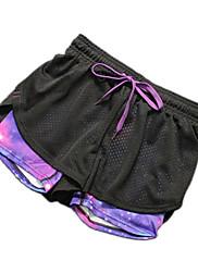 Yoga hlače Kratke hlače Prozračnost Quick dry Prirodno Rastezljiva Sportska odjeća Žene Yoga Sposobnost Slobodno vrijeme Sport Trčanje