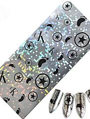 1ks 100 * 4 cm nail art přenos třpytky nail art kutilství císařské koruny jablko hvězda snímek designové samolepky bn01-04