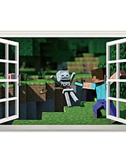 3D Samolepky na zeď Samolepky na stěnu / 3D samolepky na zeď Ozdobné samolepky na zeď,PVC Materiál Snímatelné Home dekoraceLepicí obraz