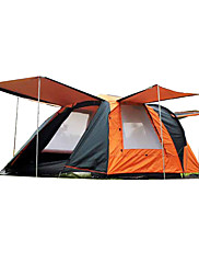 SHAMOCAMEL 3-4 persons Tent Double Family Camping Tents Two Rooms with Vestibule Camping Tent 2000-3000 mmRain-Proof Anti-Insect Keep
