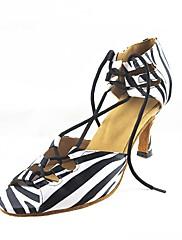 Obyčejné-Dámské-Taneční boty-Latina / Moderní-Satén-Na zakázku-Jiná