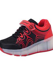 Tenisky-Tyl-Pohodlné-Dívčí-Modrá Růžová Červená-Běžné-Plochá podrážka