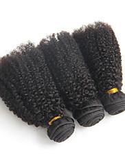 Lidské vlasy Vazby Brazilské vlasy Kinky Curly 12 měsíců 3 kusy Vazby na vlasy