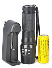 Lights LED Flashlights/Torch LED 5000 Lumens 1 Mode Cree XM-L T6 18650 Dimmable / Adjustable FocusCamping/Hiking/Caving / Cycling/Bike /