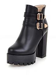 Boty-Syntetika Lakovaná kůže Koženka-Platformy Novinky Kovbojské Sněhule Gladiátorské Módní boty Boty s kolečky-Dámské-Černá Růžová Bílá-