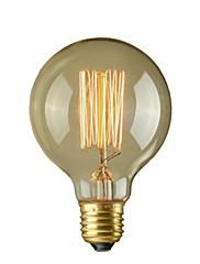 40w e26 / e27レトロな産業スタイルのグローブ透明な白熱電球
