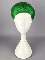 anime joker zelený 30 cm krátké umělých vlasů tepelně odolné strana halloween cosplay kostým paruka
