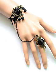 Šperky Gothic Lolita Náramek Lolita Černá Lolita Příslušenství Náramek / Kroužek Krajka Pro Dámské Satén / Krajka / Slitina