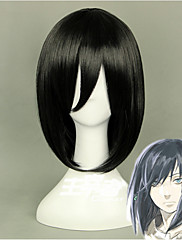 Vysoká kvalita anime Zámek v oblacích Průvodce výt krátké černé cosplay paruka syntetické vlasy strany paruka