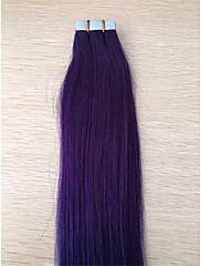 2,5 g / ks brazilský stín šedá prodloužení páska vlasy 1b / šedá PU kůže útek lidské prodlužování vlasů
