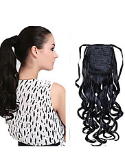 Nová móda dlouhé zvlněné syntetické šňůrka ohon klip prodloužení kudrnaté vlasy