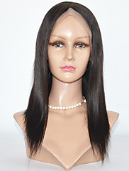 Long Length Yaki Straight  Hair Wigs Lace Front Human Hair Wigs For Black Women