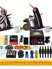 Kompletan Tattoo Kit 2 x legure tetovaža stroj za obloge i sjenčanje 2 Tattoo Machines LCD napajanja Tinte dostavljaju odvojeno