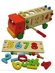 Stavební bloky Pro šikovné ručičky za dárky Stavební bloky Náklaďák Dřevo 2-4 roky 5-7 let Hračky