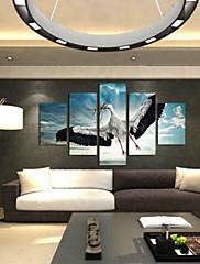 Kunst Print Dyr Moderne,Fem Paneler Horisontal Print Vægdekor For Hjem Dekoration