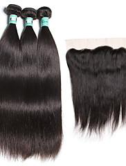 Vlasy Útek se zapínáním Brazilské vlasy Proste 18 měsíců 4 kusy Vazby na vlasy