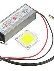 1pc vysoký výkon 100w vedl smd žárovku žetonu s vodotěsným napájením řidiče