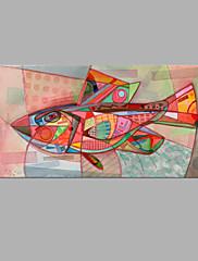 Hånd-malede Abstrakt Horisontal,Kunstnerisk Et Panel Kanvas Hang-Painted Oliemaleri For Hjem Dekoration