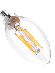 4W LED-stearinlyspærer C35 4 COB 300-400 lm Varm hvid Dekorativ Dæmpbar Vekselstrøm 110-130 V 1 stk.