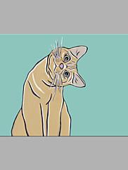 手描きの 動物 横式,アーティスティック 1枚 キャンバス ハング塗装油絵 For ホームデコレーション