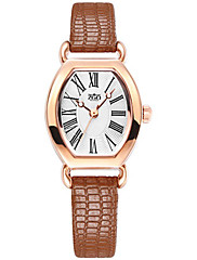 Mulheres Relógio de Moda Quartzo Impermeável PU Banda Preta Branco Marrom