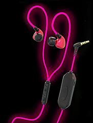 Jiefangzhe q10 brilhando nos fones de ouvido escuros versão brilhante e brilhante com corrida de corrida de esportes de microfone