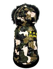 Hund Frakker Hundetøj Afslappet/Hverdag Amerikansk / USA Kamuflage Farve