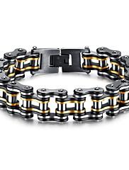 Pánské Řetězové & Ploché Náramky Módní Rock Gothic Zirkon Titanová ocel Round Shape Šperky Pro Párty Narozeniny Denní Večerní oslava