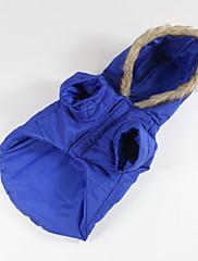Pes Kabáty Oblečení pro psy Běžné/Denní Jednolitý Červená Modrá Růžová Světle modrá