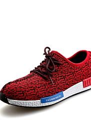 Masculino sapatos Malha Respirável Primavera Outono Conforto Tênis Cadarço Para Atlético Casual Preto Cinzento Vermelho