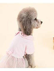 Cachorro Vestidos Roupas para Cães Casual Princesa Rosa claro
