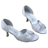 raso uppermedium tacco peep-dita dei piedi con scarpe da sposa strass da sposa (MM002)