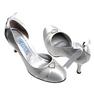 top in raso tacco di qualità superiore ad alta chiuso le dita dei piedi con le scarpe da sposa strass da sposa (a0617)