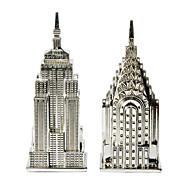 rascacielos americanos sal y pimienta shakerss (juego de 2)