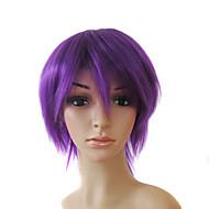 korkiton lyhyt korkealaatuinen synteettinen violetti suorat hiukset peruukit 0988-nt007 3750