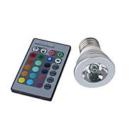 Spot Commandée à Distance RGB / Couleurs Changeantes MR16 E26/E27 3 W 1 LED Haute Puissance 150 LM AC 100-240 V
