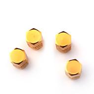 valves de pneus de luxe caps / tiges d'or pour la voiture (4 pièces par paquet)