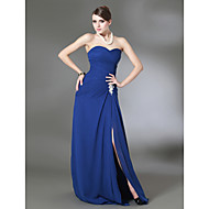 TS Couture® Prom / Formal Evening / Military Ball Dress - Open Back Plus Size / Petite Sheath / Column Strapless / Sweetheart Sweep / Brush Train