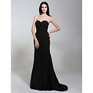 TS Couture® Formal Evening / Military Ball Dress - Open Back Plus Size / Petite Trumpet / Mermaid Strapless / Sweetheart Sweep / Brush Train Chiffon