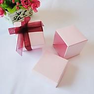 평방 분홍색 유리 상자 (24 세트)