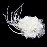 Women's Flax/Tulle Headpiece - Wedding/Casual/Special Occasion Flowers/Fascinators