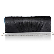 Women Satin Event/Party Evening Bag White / Purple / Gold / Red / Black