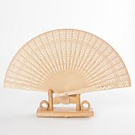 Intricate Openwork Sandalwood Hand Fans (set of 6)