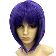 Capless Short Heat-resistant Violet Costume Party Wig