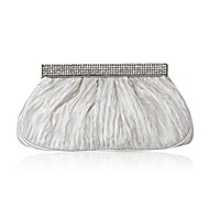 Silk With Rhinestone Evening Handbags/ Clutches