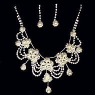 Conjunto de joyas Perla Artificial/Rhinestone Aleación De mujeres