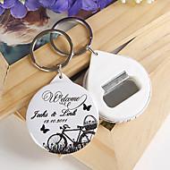 personlig flasköppnare / nyckelring - cykel och fjäril (sats om 12)